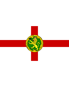 Flagge: XL Alderney | Couleu de Aurni  |  Querformat Fahne | 2.16m² | 100x200cm