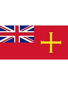 Flag: Civil Ensign of Guernsey |  landscape flag | 0.06m² | 0.65sqft | 17x34cm | 7x14inch