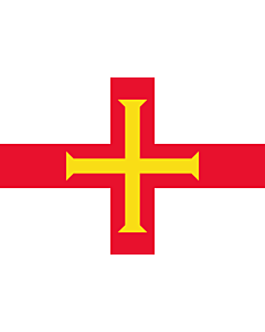 Flag: Guernsey |  landscape flag | 0.375m² | 4sqft | 50x75cm | 1.5x2.5ft