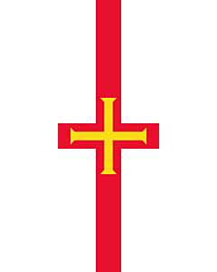Vertical Hanging Beam Flag: Guernsey |  portrait flag | 6m² | 64sqft | 400x150cm | 13x5ft