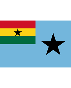 Flagge: XL Civil Air Ensign of Ghana  |  Querformat Fahne | 2.16m² | 120x180cm