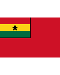 Flagge: Large Civil Ensign of Ghana  |  Querformat Fahne | 1.35m² | 90x150cm
