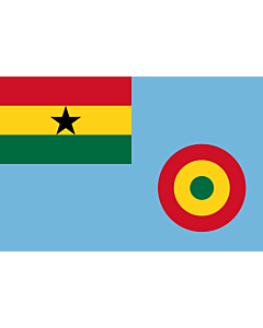 Flagge: Large Ensign of the Ghana Air Force  |  Querformat Fahne | 1.35m² | 90x150cm