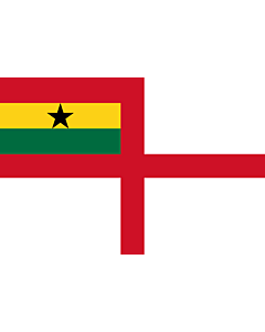 Flag: Naval Ensign of Ghana |  landscape flag | 1.35m² | 14.5sqft | 90x150cm | 3x5ft