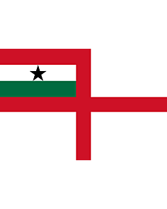 Flagge: Large Naval Ensign of Ghana 1964-1966  |  Querformat Fahne | 1.35m² | 90x150cm