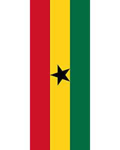 Vertical Hanging Swivel Crossbar Banner Flag: Ghana |  portrait flag | 3.5m² | 38sqft | 300x120cm | 10x4ft