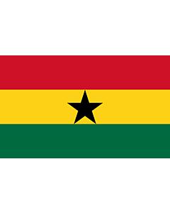 Drapeau d'Intérieur prestige: Ghana 90x150cm
