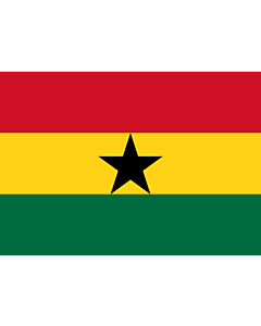 Flag: Ghana |  landscape flag | 0.7m² | 7.5sqft | 70x100cm | 2x3ft