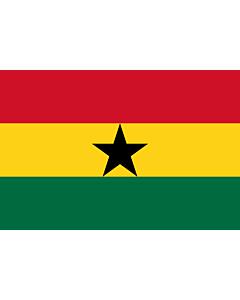 Flagge: XL Ghana  |  Querformat Fahne | 2.16m² | 120x180cm