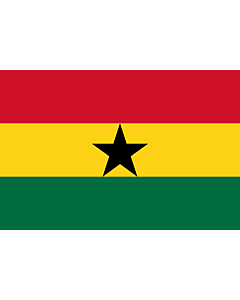 Drapeau: Ghana |  drapeau paysage | 2.16m² | 120x180cm