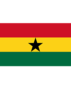 Flag: Ghana |  landscape flag | 2.4m² | 26sqft | 120x200cm | 4x7ft