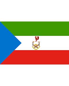 Flag: Equatorial Guinea 1973-1979 | Guinée équatoriale 1978-1979 | Guinea Ecuatorial 1978-1979 | Guiné Equatorial 1978-1979 |  landscape flag | 1.35m² | 14.5sqft | 90x150cm | 3x5ft