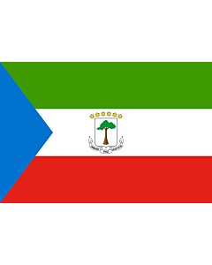 Flag: Equatorial Guinea |  landscape flag | 3.75m² | 40sqft | 150x250cm | 5x8ft