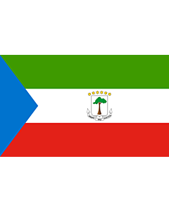 Indoor-Flag: Equatorial Guinea 90x150cm