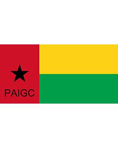 Flag: PAIGC | Partido Africano para a Independência da Guiné e Cabo Verde |  landscape flag | 2.16m² | 23sqft | 100x200cm | 40x80inch
