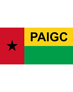 Flagge: Large PAIGC  variant | African Party for the Independence of Guinea and Cape Verde | Parti africain pour l indépendance de la Guinée et du Cap-Vert | Partido Africano para a Independência da Guiné e Cabo Verde | Флаг Африканской партии независимос
