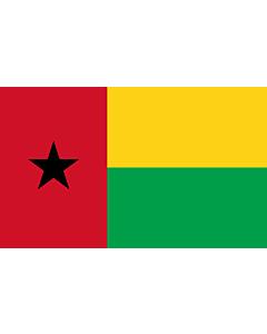 Flag: Guinea-Bissau |  landscape flag | 1.35m² | 14.5sqft | 90x150cm | 3x5ft