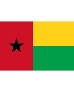 Flag: Guinea-Bissau |  landscape flag | 0.24m² | 2.5sqft | 40x60cm | 1.3x2foot