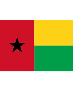 Flag: Guinea-Bissau |  landscape flag | 0.7m² | 7.5sqft | 70x100cm | 2x3ft