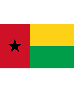 Flag: Guinea-Bissau |  landscape flag | 3.75m² | 40sqft | 150x250cm | 5x8ft