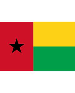 Flag: Guinea-Bissau |  landscape flag | 6m² | 64sqft | 200x300cm | 6x10ft