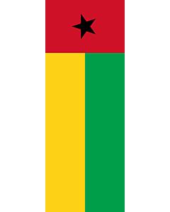 Flag: Guinea-Bissau |  portrait flag | 6m² | 64sqft | 400x150cm | 13x5ft