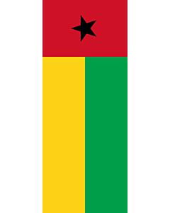 Vertical Hanging Beam Flag: Guinea-Bissau |  portrait flag | 3.5m² | 38sqft | 300x120cm | 10x4ft