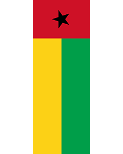 Vertical Hanging Swivel Crossbar Banner Flag: Guinea-Bissau |  portrait flag | 6m² | 64sqft | 400x150cm | 13x5ft