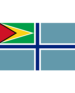 Flag: Civil Air Ensign of Guyana |  landscape flag | 2.16m² | 23sqft | 120x180cm | 4x6ft