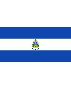 Drapeau: Naval Ensign of Honduras |  drapeau paysage | 1.35m² | 80x160cm