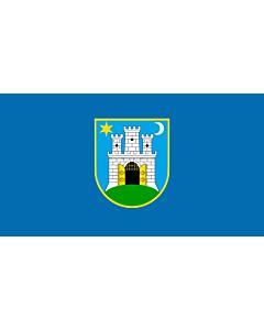 Flag: Zagreb, Croatia |  landscape flag | 1.35m² | 14.5sqft | 85x160cm | 35x60inch