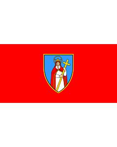 Flag: Arms of the City of Kastav |  landscape flag | 1.35m² | 14.5sqft | 80x160cm | 30x60inch