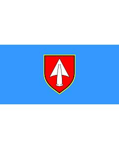 Flag: Municipality of Kršan |  landscape flag | 1.35m² | 14.5sqft | 80x160cm | 30x60inch