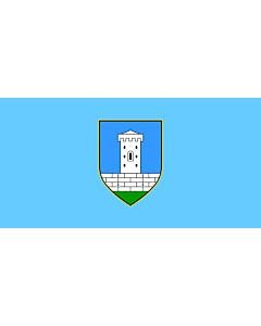 Flag: Municipality of Tinjan |  landscape flag | 2.16m² | 23sqft | 100x200cm | 40x80inch