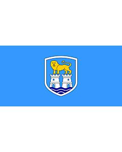 Flag: City of Umag |  landscape flag | 1.35m² | 14.5sqft | 80x160cm | 30x60inch