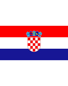 Flag: Croatia |  landscape flag | 0.96m² | 10sqft | 70x140cm | 27x54inch