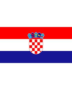Flag: Croatia |  landscape flag | 2.16m² | 23sqft | 100x200cm | 40x80inch