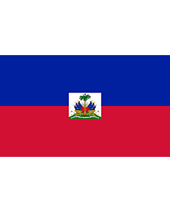 Flag: Haiti |  landscape flag | 3.75m² | 40sqft | 150x250cm | 5x8ft