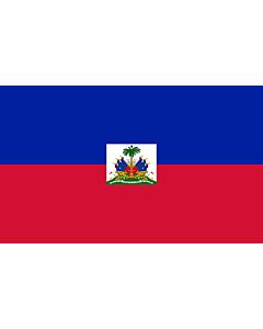 Flag: Haiti |  landscape flag | 6m² | 64sqft | 200x300cm | 6x10ft