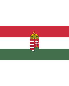 Flag: Hungary |  landscape flag | 2.16m² | 23sqft | 100x200cm | 40x80inch