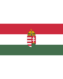 Flag: Hungary |  landscape flag | 6.7m² | 72sqft | 180x360cm | 70x140inch