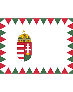 Flagge: Large Naval Ensign of Hungary  |  Querformat Fahne | 1.35m² | 100x130cm