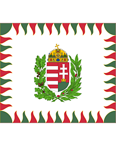 Bandera: War Flag of Hungary | Colour for brigades | Oficiala milita armea flago de Hungario | 1990 M |  bandera paisaje | 1.35m² | 110x130cm