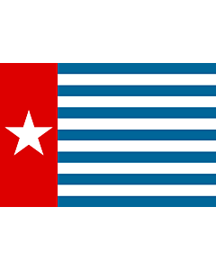 Flag: Unofficial Morning Star flag |  landscape flag | 2.16m² | 23sqft | 120x180cm | 4x6ft