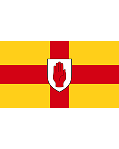Flag: Ulster |  landscape flag | 3.75m² | 40sqft | 150x250cm | 5x8ft