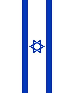 Ausleger-Flagge:  Israel  |  Hochformat Fahne | 3.5m² | 300x120cm
