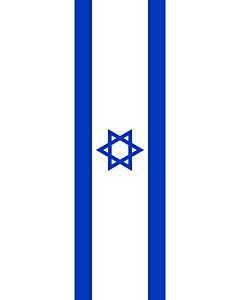 Ausleger-Flagge:  Israel  |  Hochformat Fahne | 6m² | 400x150cm