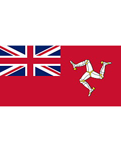 Flag: Civil ensign of the Isle of Man |  landscape flag | 0.06m² | 0.65sqft | 17x34cm | 7x14inch