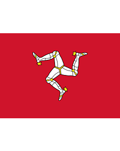 Flag: Isle of Man |  landscape flag | 0.7m² | 7.5sqft | 70x100cm | 2x3ft