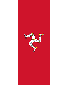 Vertical Hanging Swivel Crossbar Banner Flag: Isle of Man |  portrait flag | 6m² | 64sqft | 400x150cm | 13x5ft